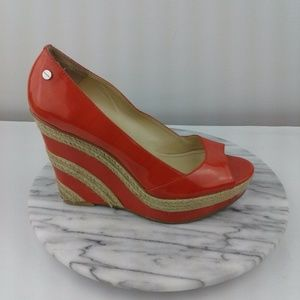 Calvin Klein Harlo Womens Size 8 Red Wedges